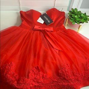 Sherri Hill Red Short Dress New Pageant/HOCO SZ 8